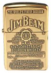 Zippo Lighter 254BJB.929 Jim Beam Label High Polish Brass