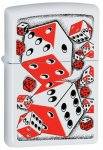 Zippo 28031 Classic Rolling Dice White Matte Windproof Lighter