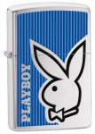 Zippo 28261 Playboy Brushed Chrome Bunny Blue Windproof