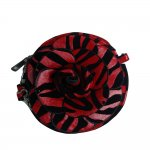"Women's Rose Zebra Small Crossbody Bag With Multi Colors ""Red"""