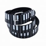 "Leather ""Piano Keys"" Printed Belt"