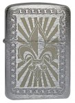 Zippo Lighter 28325 Lleur De Lis 1941 Replica Brushed Chrome