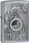 Zippo ZO24457 Military/Patriotic Lighter Joined Forces Emblem