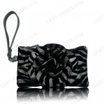 "Women's Rose Zebra Small Wristlet Bag With Multi Colors ""Grey"""