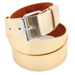 Gold Faux Leather Belt