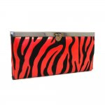 Zebra Clutch wallet with Round buckle Multi Color