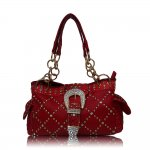 "Western Style Buckle Handbags ""Red"""