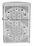 Zippo Lighter 20904 Bling Emblem Swarovski Crystal Chrome