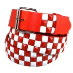 Metal Checkered Stud Belt w/Multiple Colors