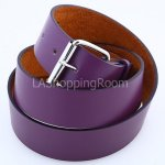 Purple Faux Leather Belt