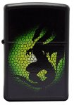 Zippo Lighter 28135 Barrett-Smythe Triptych Dragon Black Matte