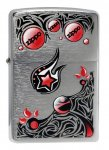 Zippo classic 28056 stars & planets brushed chrome windproof