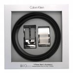 Calvin Klein(CK) Reversible Black Genuine Leather Belt Box Set