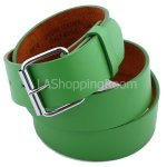 Green Faux Leather Belt