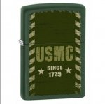 Zippo 28337 USMC Marines Green Matte Lighter
