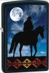 ZIPPO LIGHTER - COWBOY MOON GRAPHIC on BLACK MATTE FINISH, 28311
