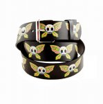"Leather ""Butterfly Skull"" Printed Belt"