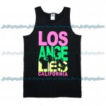 Men Funny Tank Top Los Angeles California Palm Tree