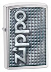 Zippo 28280 Diamond Plate Abstract Logo Brushed Chrome Lighter