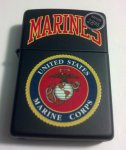 U.S. Marine Corps Black Matte Windproof Zippo Lighter #218.539