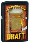 Zippo 28294 Classic I Support The Draft Black Matte Windproof