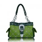 "Western Style Buckle Handbags ""Green"